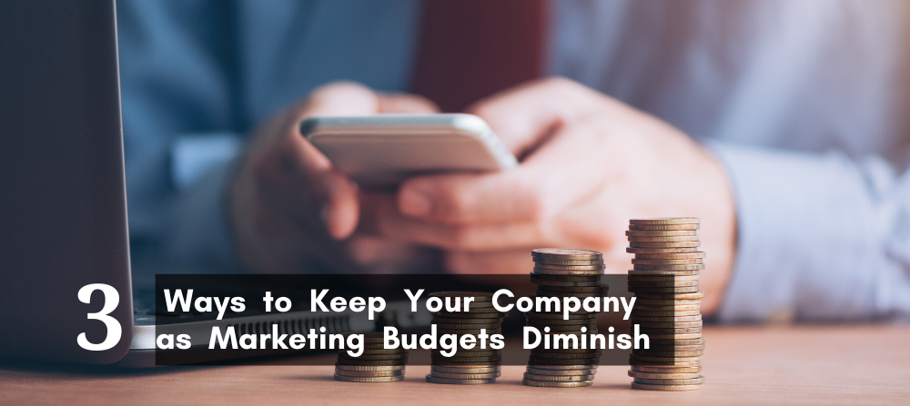 3 Ways to Keep Your Company as Marketing Budgets Diminish